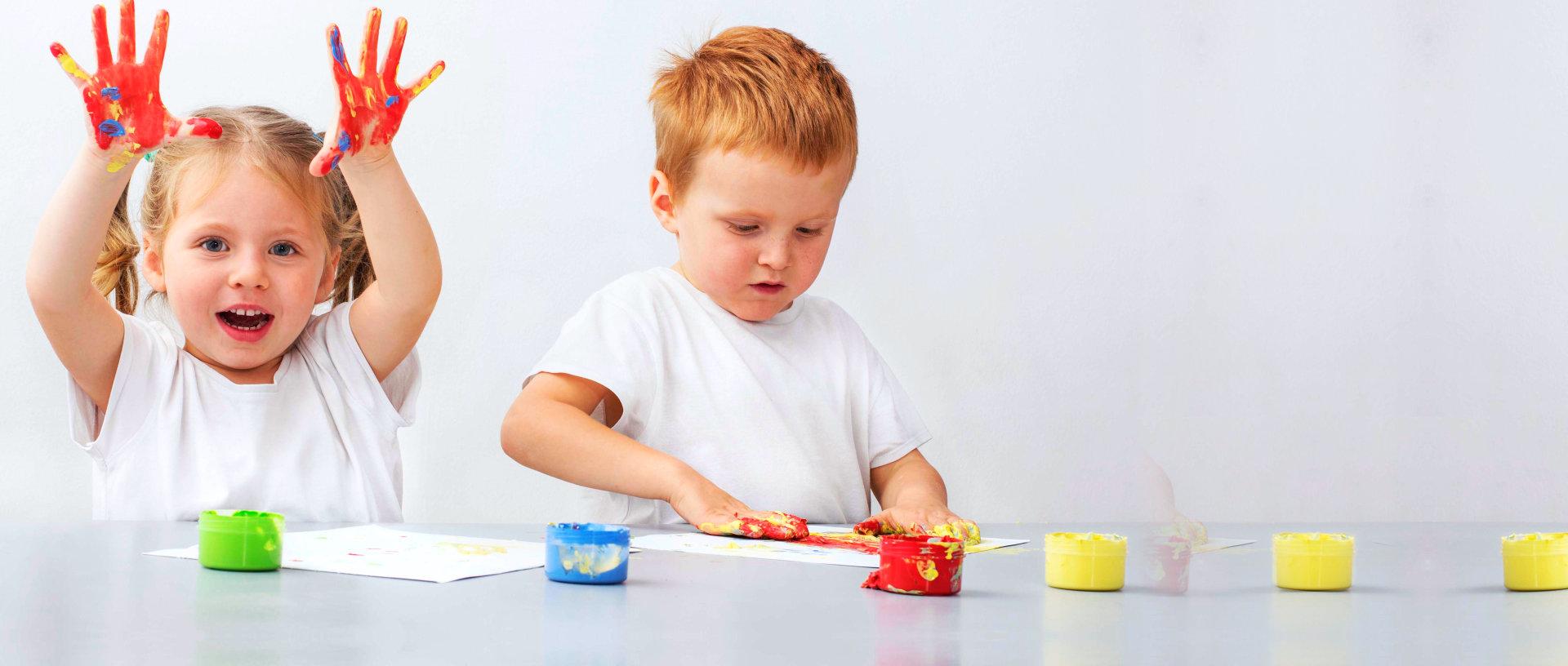 children having art work